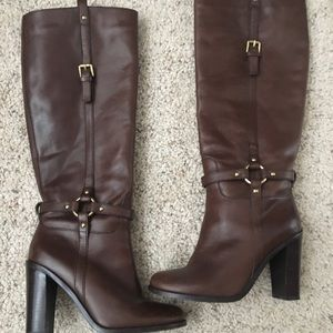 Coach (Ellie) leather boots, brown 6.5